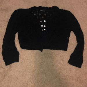 Crop black sweater M